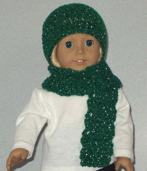 8c4d1b2b5c Crocheted Hat and Scarf doll clothes made to fit 18 inch dolls