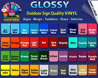 10 pack 12 inch rolls Oracal 651  Adhesive Backed Vinyl Craft & Sign Cutters YOU PICK COLORS High Gloss,tumblers,outdoor Viny_Village