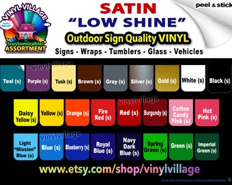 12 sheets 12x12 low shine Adhesive Backed Vinyl YOU PICK COLORS, for all craft & sign cutters Expression, Silhouette, Scrapbooking