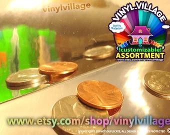 "1 sheet 12x24  Mirror Chrome Adhesive Backed Vinyl 12""x24"""