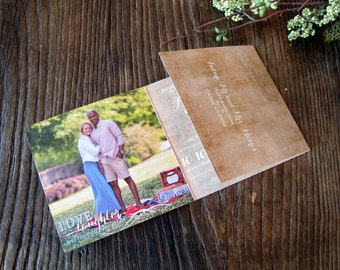 All in One Wedding Invitation Suite - rustic wedding invitation · typography · tear off RSVP · photo wedding invitations (172)