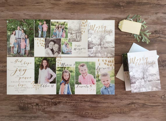 Custom Accordion Fold Christmas Cards 8 Panels To Custom Etsy