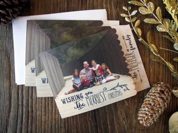 Weihnachtskarten einzigartige Foto-Karten Die cut | Etsy