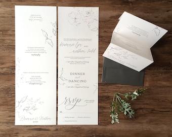 Wedding Invitation Suite  ·  All in One Accordion Fold Wedding Invitations · Fall Wedding Invitations · Natural Wedding Invitations (223)