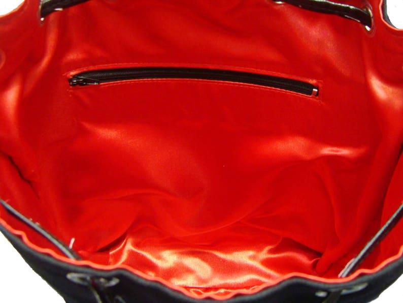 US Handmade Large Backpack With Adjustable Handles Vintage SKULLS DUGGERY  Pattern Handbag Purse Cotton Fabric New,