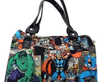 "Doctor bag Satchel Bag ""THOR"" Pattern Cotton Fabric Bag Purse, new"
