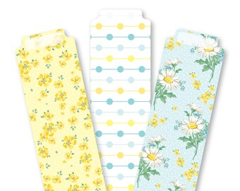 Printable DAISY Bookmark Set- Digital File Instant Download- daisies, dots, spring, tabs, dividers, inserts, planner goodies, extras, tabs