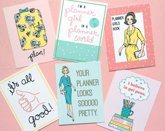 Planner Girl Journal cards/inserts-Digital File Instant Download-Planner Inserts, travelers journal, Project Life, pocket cards