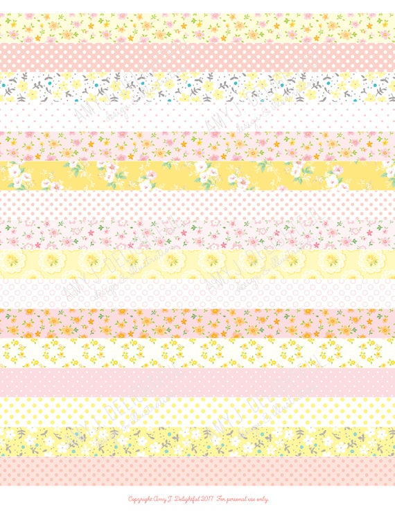 image regarding Printable Washi Tape named Printable WASHI TAPE stickers!-Electronic Report Prompt Down load- crimson, coral, yellow, polka dots, florals, bible journaling, Joyful Planner, Do-it-yourself