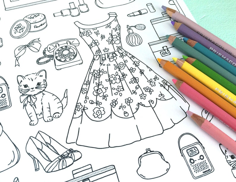 73 Printable Girly Coloring Pages  Images