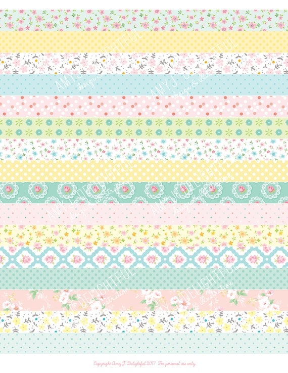 image regarding Printable Washi Tape known as Printable WASHI TAPE stickers!-Electronic Record Prompt Down load-Pastel, polka dots, florals, bible journaling, Delighted Planner, Do-it-yourself, pastel, red