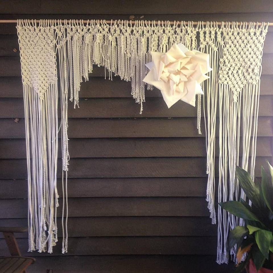 Macrame Arch Window Treatment/Wedding Arch