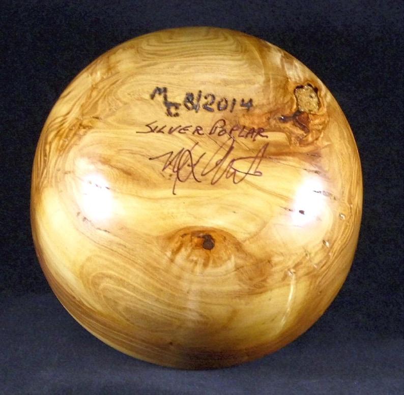 Silver Poplar Hand Turned Wooden Bowl