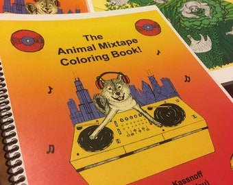 Digital Version - The Animal Mixtape Coloring Book - DIGITAL DOWNLOAD PDF