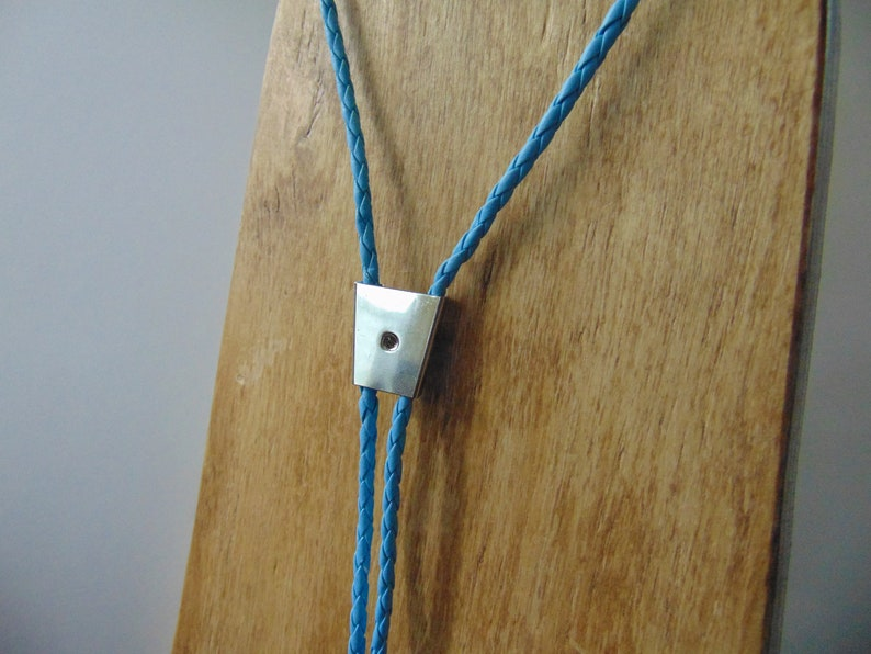 Bolo tie cord and clip Baby blue to make your own