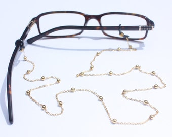 Glasses Chain || Ball & Chain Gold