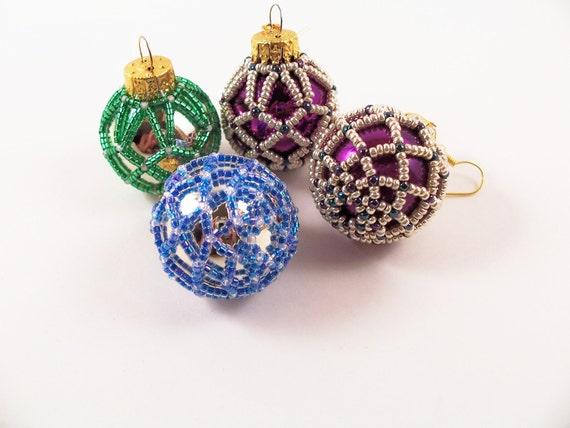 Beaded Christmas Ornament - Pattern 3 Net Beading Tutorial in PDF - Beaded Christmas Ornament Pattern 3 Net Beading Tutorial In Etsy