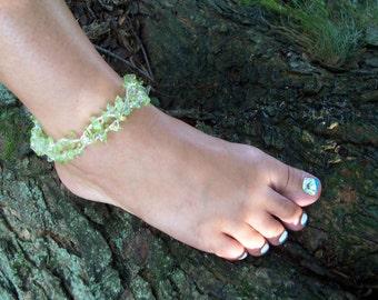 By The Sea Beaded Bracelet/Anklet Pattern, Beading Tutorial in PDF