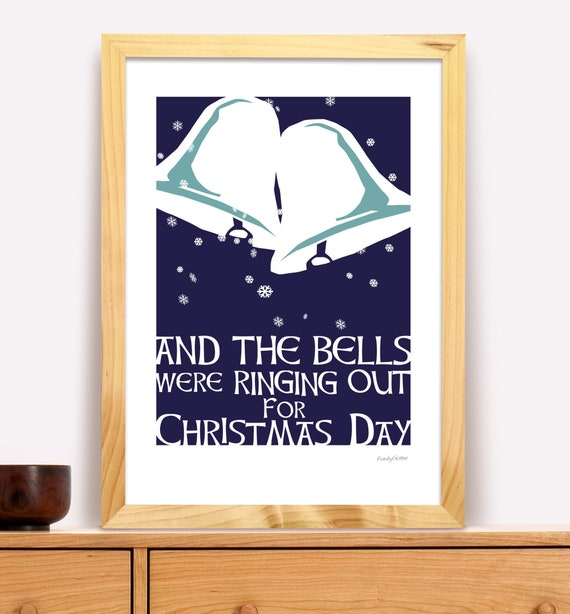 And The Bells Were Ringing Out for Christmas Day Modern Irish | Etsy