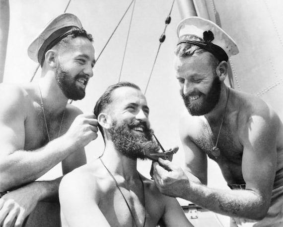 Bearded Sailors Handsome Men Vintage Australian Navy Man Beard | Etsy