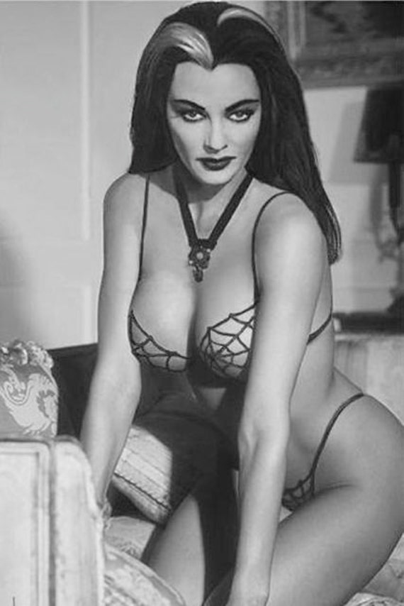 Sexy Lily Munster Yvonne De Carlo Goth Pinup The Munsters Tv Etsy