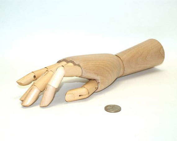 artist wood hand adjustable wooden mannequin hand 12 inch etsy