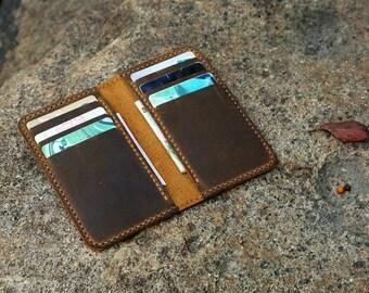 987e4d02439 Personalized minimalist leather wallet   leather men slim thin bifold  leather wallet   minimal front pocket wallet BW056T