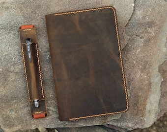 Personalized leather cover for large moleskine notebook , moleskine planner journal leather cover MA505DIS