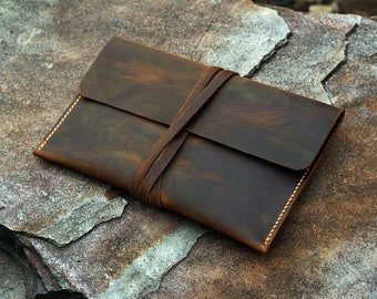 Personalized distressed leather case cover for 2021 New Kindle Paperwhite 5 / Simple retro leather Kindle Voyage Paperwhite case KDX05S-S
