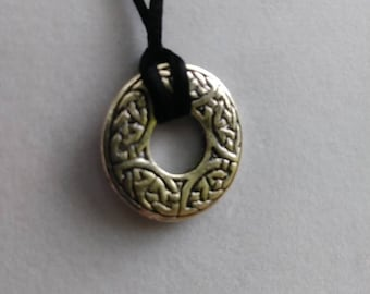 Celtic Knotwork Satin Cord Necklace