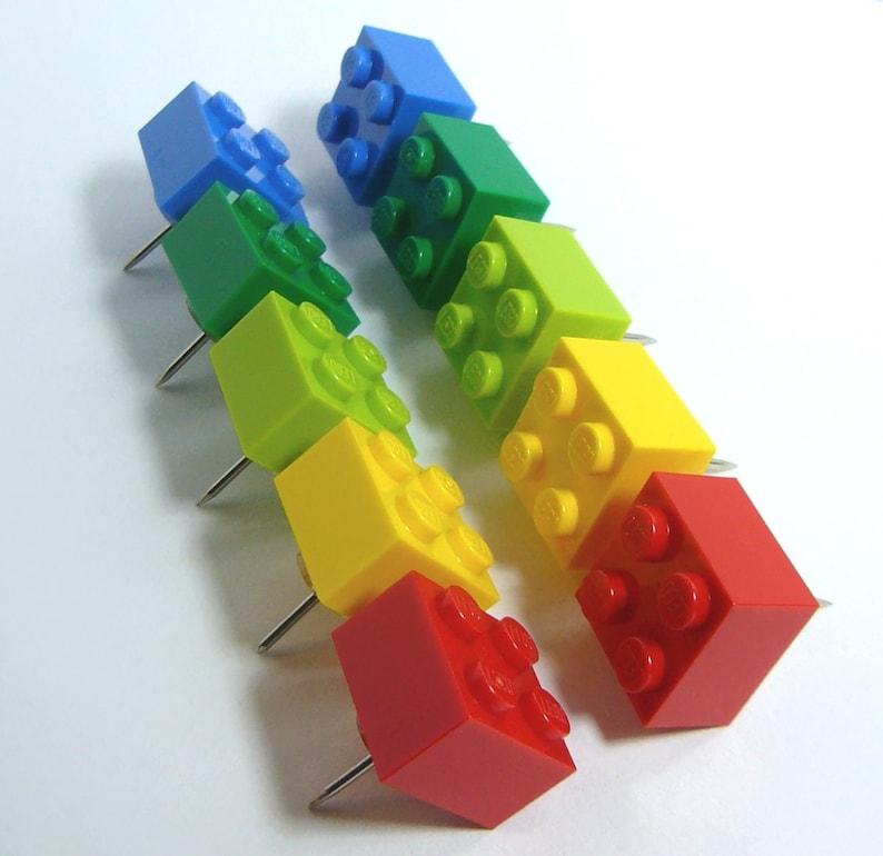 set of 8 by AbbieDabbles using LEGO® bricks Brick Bobby Pins