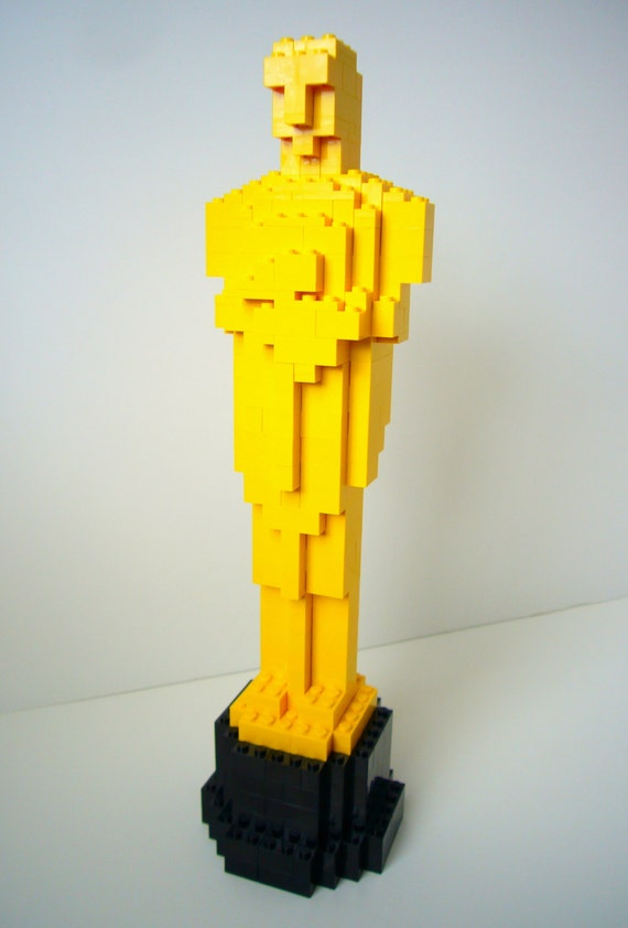 Building Instructions For Oscar Statue Made From Lego Bricks Etsy