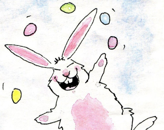 Funny Easter Card, Easter Bunny Easter Greeting Card, Easter Card for Kids, Children's Easter Card, Card Easter Humor, Handmade Easter