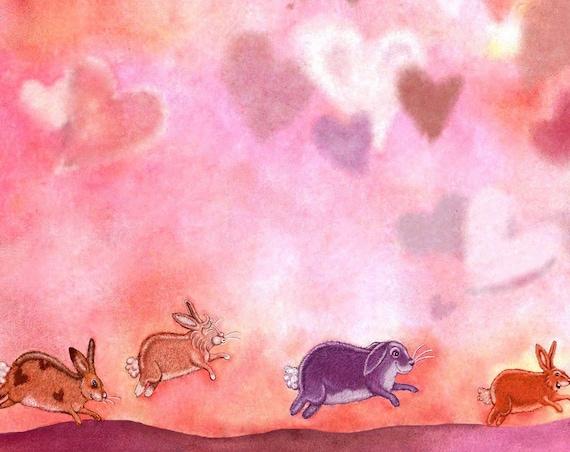 Funny Valentines Card - Funny Bunny Rabbit Valentines Day Card - Handmade Valentines Card - Rabbit Card - Bunny Card 'My Bunny Valentine'