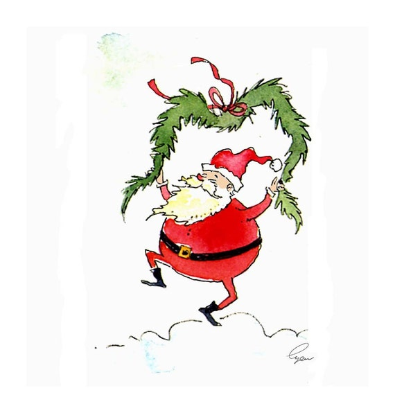 Christmas Greeting Card - Christmas Card - Funny Santa Christmas Card
