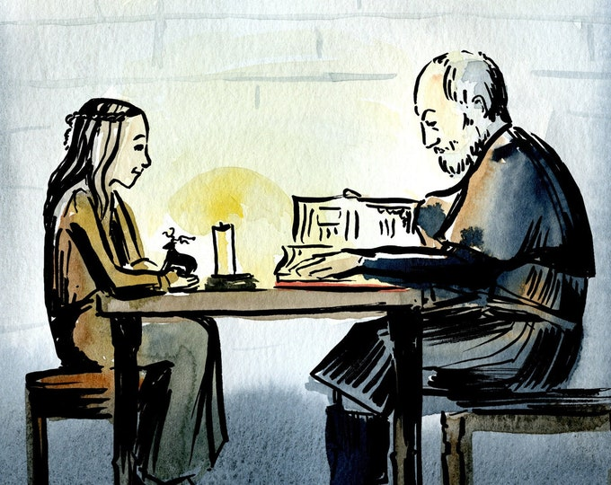 Game of Thrones Ser Davos and Shireen Print