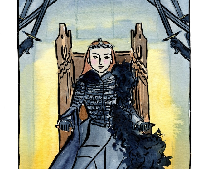 Game of Thrones The Queen in The North Print