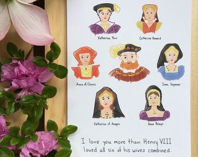 Henry VIII and His Six Wives Card
