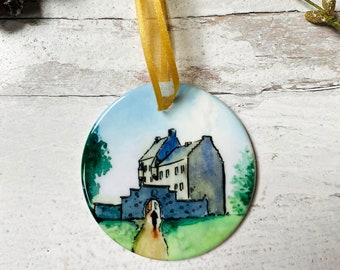 Outlander Lallybroch Round Ceramic Christmas Ornament
