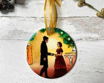 Victoria and Albert Round Ceramic Christmas Ornament