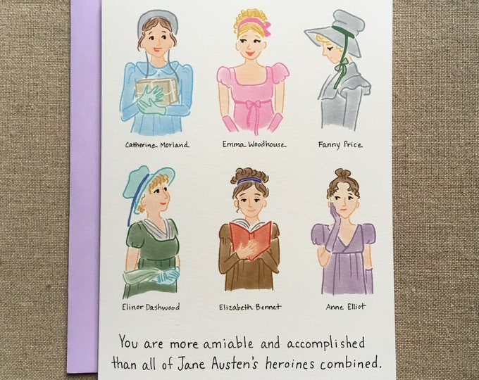 Jane Austen Heroines Card