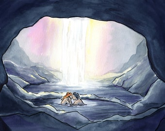 Game of Thrones Jon Snow and Ygritte in the Cave