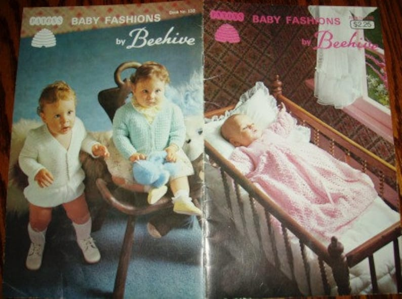 d4e52523f969 Vintage knit crochet patterns ... Beehive BABY FASHIONS Patons