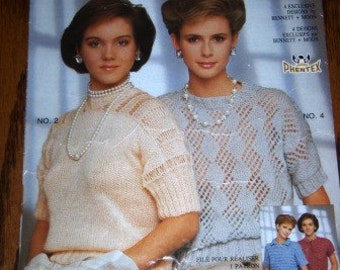 vintage crochet knit patterns ...  PHENTEX MOHAIR Sweater Patterns leaflet pattern ...