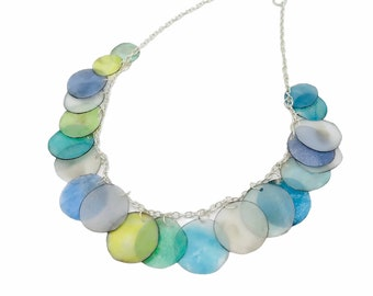 Necklace made from recycled plastic
