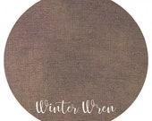 WINTER WREN (32 - 36- 40 ) count premium cross stitch fabric 100 linen Fat Eighth Fox and Rabbit Designs