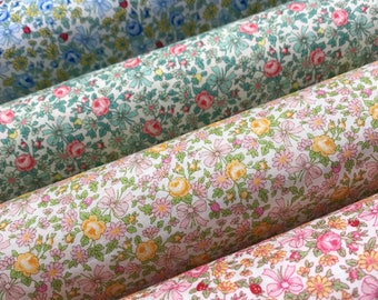 NEW Atsuko Matsuyama 30's collection 2017 Lovely floral Liberty-like bundle - 1930's reproduction quilt fabric - by Yuwa Japan