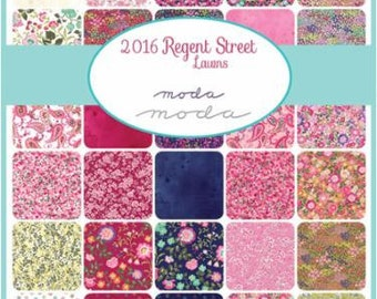 Regent St Lawn FAT quarter bundle by Sentimental Studios for Moda 2016  - cotton lawn fabric