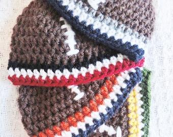 Football Beanie Hat Hand-crocheted Baby Beanie Custom Crocheted Football Team Colors By Distinctly Daisy