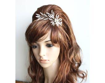 Crystal Bridal Comb Pearl and crystal wedding comb